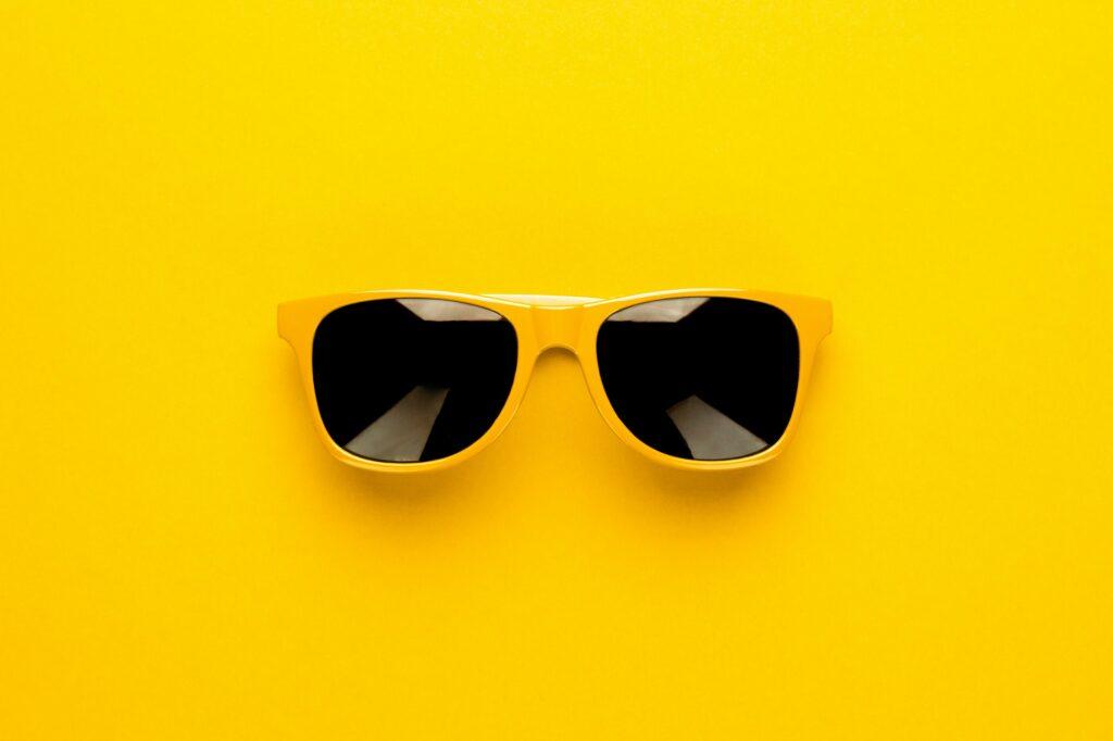Studio Shot Of Yellow Sunglasses
